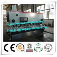 QC11Y-6x3200 Hydraulic Guillotine Shearing Machine , NC Hydraulic Swing Shearing Machine Manufactures