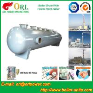 Chemical Industry SGS Mud Drum In Boiler , Custom High Pressure Drum Manufactures