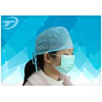 Blue Disposable Nonwoven Doctor Cap/Caps With Tie On Or Elastic  61*14cm Manufactures