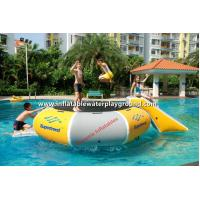 Outdoor Inflatable Pool Trampoline Water Bounce Platform For Kids , 4m Diameter Manufactures