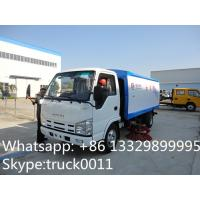 high quality Japan brand 4*2 LHD street sweeper truck for sale, factory sale best price ISUZU road cleaning vehicle Manufactures