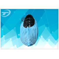 Quality Blue SPP Nonwoven Disposable Waterproof Shoe Covers For Protection Use for sale