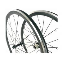 Quality 38MM Clincher Carbon Wheels Aluminum Braking Surface 23MM Width Toray 700 for sale