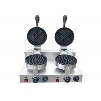 Commercial Use Double Head Waffle Baker Snack Bar Equipment 2600W 220V Manufactures