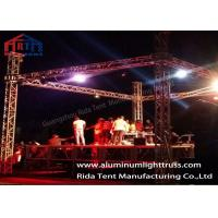 Sound And Lighting Concert Truss System / Spigot Type Aluminum Stage Truss Manufactures