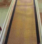 High quality ptfe teflon coated fiberglass mesh conveyor belt Manufactures