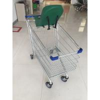 5 Inch Wheel Metal Steel Shopping Cart Trolley 21.62kg With Safety Baby Capsule Manufactures