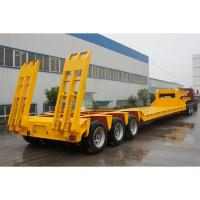 Buy cheap Low Bed 4 Axle Heavy Duty Lowboy Truck Trailer / Container Diesel Semi Tractor from wholesalers