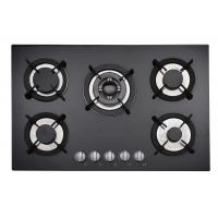 Hotel Built In 5 Ring Gas Hob Stainless Steel With Cast Iron Pan Support Manufactures