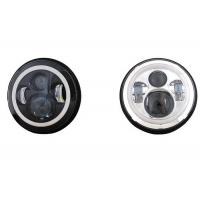 "Quality 70W 7"" Angel Eye Jeep LED Headlights High / Low H4 Or H13 Jeep Jk Halo Headlights for sale"