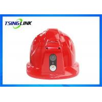 Quality Large Battery HD Camera 4G Wireless Device Intelligent Safety Helmet For Railway for sale