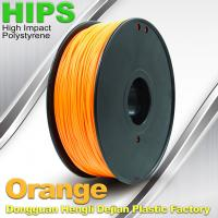 Markerbot , Cubify  3D Printing Materials HIPS Filament 1.75mm / 3.0mm Orange Color Manufactures