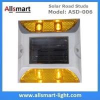 4 LED Solar Road Studs ASD-006 Solar Reflecting Marker for Traffic Warning Solar Panel Reflecting Studs for Driveway Manufactures