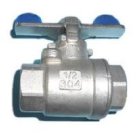 2PC Stainless Steel Ball Valve in Butterfly Handle Manufactures
