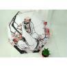 Art Work Paintings White Folding Umbrella , Compact Wind Resistant Umbrella Manufactures