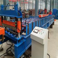 High speed 10-15m/min low noice corrugated metal plate roll forming machine Manufactures
