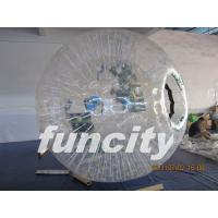1.0mm TPU material Transparent Inflatable Grass Zorbing Ball with Soft Cushion Manufactures