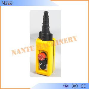 Wireless Double Speed Crane / Hoist Pendant Control Hoist Push Button Switch Manufactures