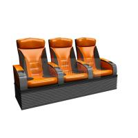 Wonderful design 3 person 4D Theater Seats with real leather , dustproof cover Manufactures