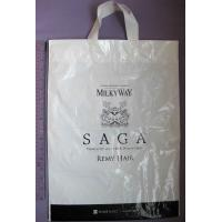 Eco-Friendly White Soft Loop Handle Stand Up Plastic Bags For Grocery Manufactures