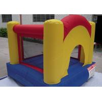 Yellow Small Commercial Bounce Houses For Kids With 210d Oxford Fabric Manufactures