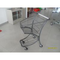 40L Steel Tube Airport / Supermarket Shopping Trolley With Advertisement Board Manufactures