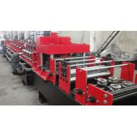 Dual Holes Punching C Purlin Roll Forming Machine Hydraulic 14 MPa Work Pressure Manufactures