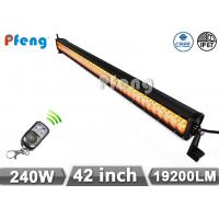 42 inch 240W Cree Led Light Bar With Amber and White Color Flashing Manufactures