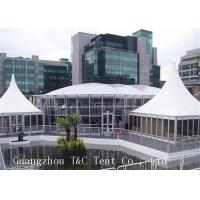 Large Trade Show Canopy Tents Permanent Use With Transparent Glass Walls Manufactures