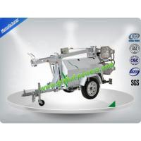 Quality Air - Cooled Telescopic Light Tower / Manual Trailer Mounted Light Towers for sale