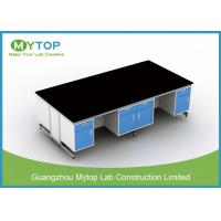 Modern All Steel Dental Lab Bench With Seating Space For Hospital / Clinic Manufactures