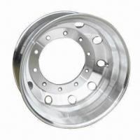 Buy cheap 22.5 x 8.25 Aluminum Truck Wheel with 221mm Center Hole and 285.75mm PCD from wholesalers