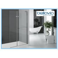 Bi Folding Pivot Hinge Shower Door Glass , Hinged Shower Door Semi Frameless Manufactures
