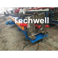 PPGI, Aluminum Round / Rectangular Downspout Roll Forming Machine With 20 Roller Stations Manufactures