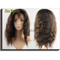 Long Brown Curly Brazilian Human Hair Full Lace Wigs for Thin Hair 120g - 200g Manufactures