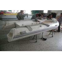 Quality 390cm Semi - Rigid Inflatable RIB Boats Fiberglass Hull Light Grey Color for sale