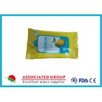 Promotional Packaging Antibacterial Hand Wipes Lemon Extract Fresh Style 10pcs*6packs Manufactures