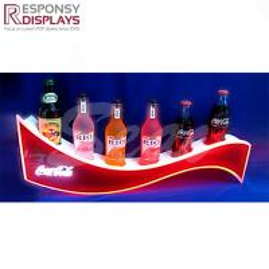 China 300*300*400 mm Popular Wholesale Bottles LED Illuminated Counter Acrylic Beer Display Shelf on sale