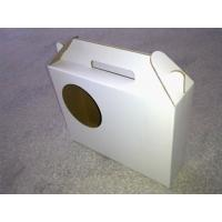 White Corrugated Paperboard Box, Fruit Packaging Boxes With Handle Manufactures