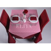 China 90 * 90 cm Squar Polyester Hotel Table Cloth , Linen Table Cloths for home or banquet or wedding on sale