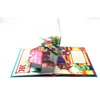 Quality Kids 3D Pop Up Book Printing Perfect Binding , 350g White Board Inside for sale