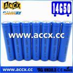 cordless telephone battery ICR14650 3.7V 1050mAh li-ion batteries 14650, 14500,