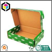 Quality Green Color CMYK Design Artwork Printed Paper Corrugated Cardboard Packaging Box for sale