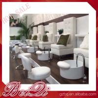 luxury white leather king chair manicure and pedicure furniture spa chair leather cover Manufactures