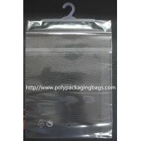 Quality OEM Self Adhesive Clothes Packaging Plastic Bag with Hook for sale