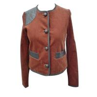 Spring Leather brown Corduroy Jackets , womens coats and jackets Manufactures