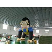 Giant 6m High Event  Inflatable Monkey / Inflatable Animal Cartoon For Advertising Manufactures