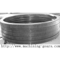 Large Transmission Helical Rack Gear Carbon Steel Material Tooth Ring Manufactures