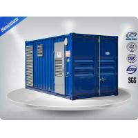 75 dB Soundproof  Cummins Diesel Generator Set 1500 Kva for Military / Telecom Manufactures