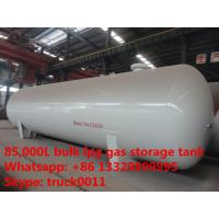 China hot sale 85,000L surface lpg gas storage tank, bulk stationary surface 85m3 bulk lpg gas storage tank for sale on sale
